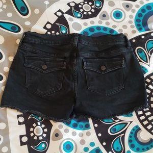 Old Navy Black Denim Stretch Shorts 6 Diva